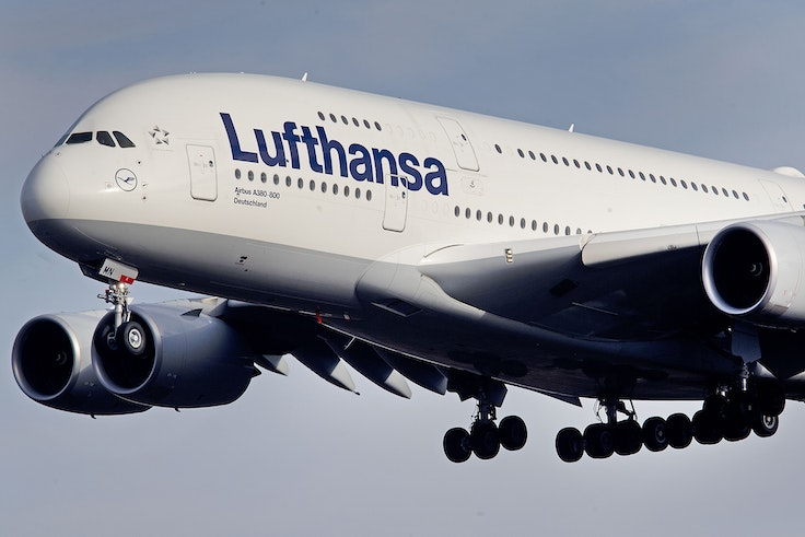 The Airbus A380 is known for its wide-body, double-decker design that can fit up to 800 passengers.