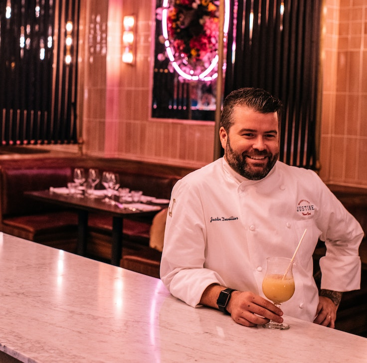 Chef Justin Devillier, behind La Petite Grocery, Balise, and Justine, dishes on where to eat, drink, shop, stay, and play in New Orleans