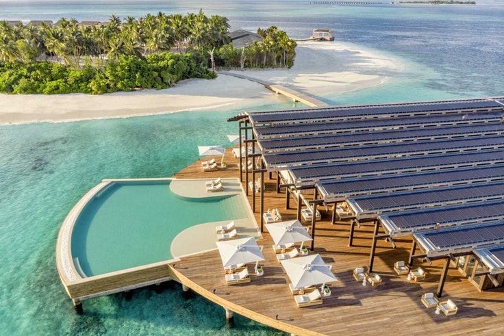 The Kudadoo Maldives Private Island by Hurawalhi is an all-inclusive resort located on the Lhaviyani Atoll.