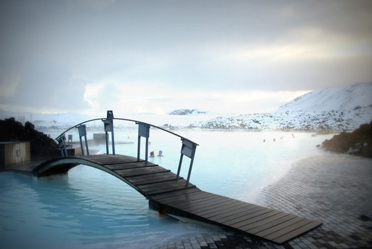 The famous Blue Lagoon—and you can get there from the U.S. for only $99.