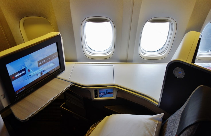 Feel like flying business class instead? Place an offer with Amex points.