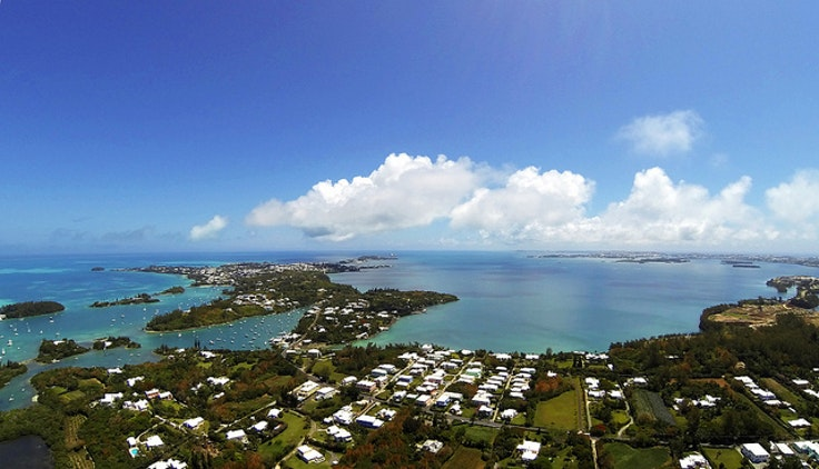 Bermuda's Great Sound—the location of the next America's Cup race