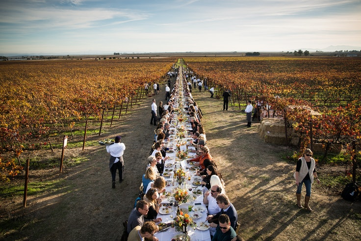 These open-air dinners take place at vineyards, beaches, and farms around the world.