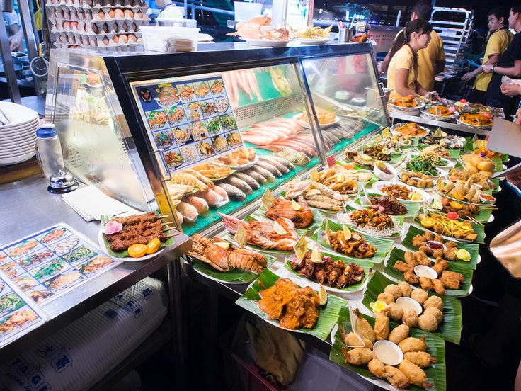 Singapore's hawker food stalls showcase cuisine from across Asia.
