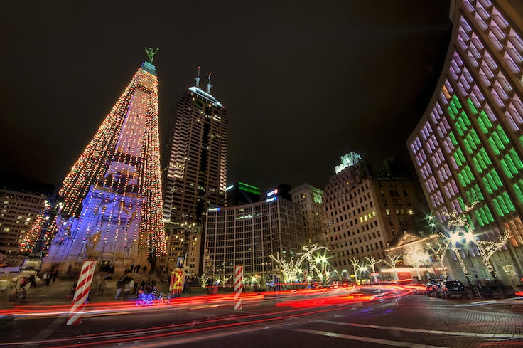 The Circle of Lights in Indianapolis, IN