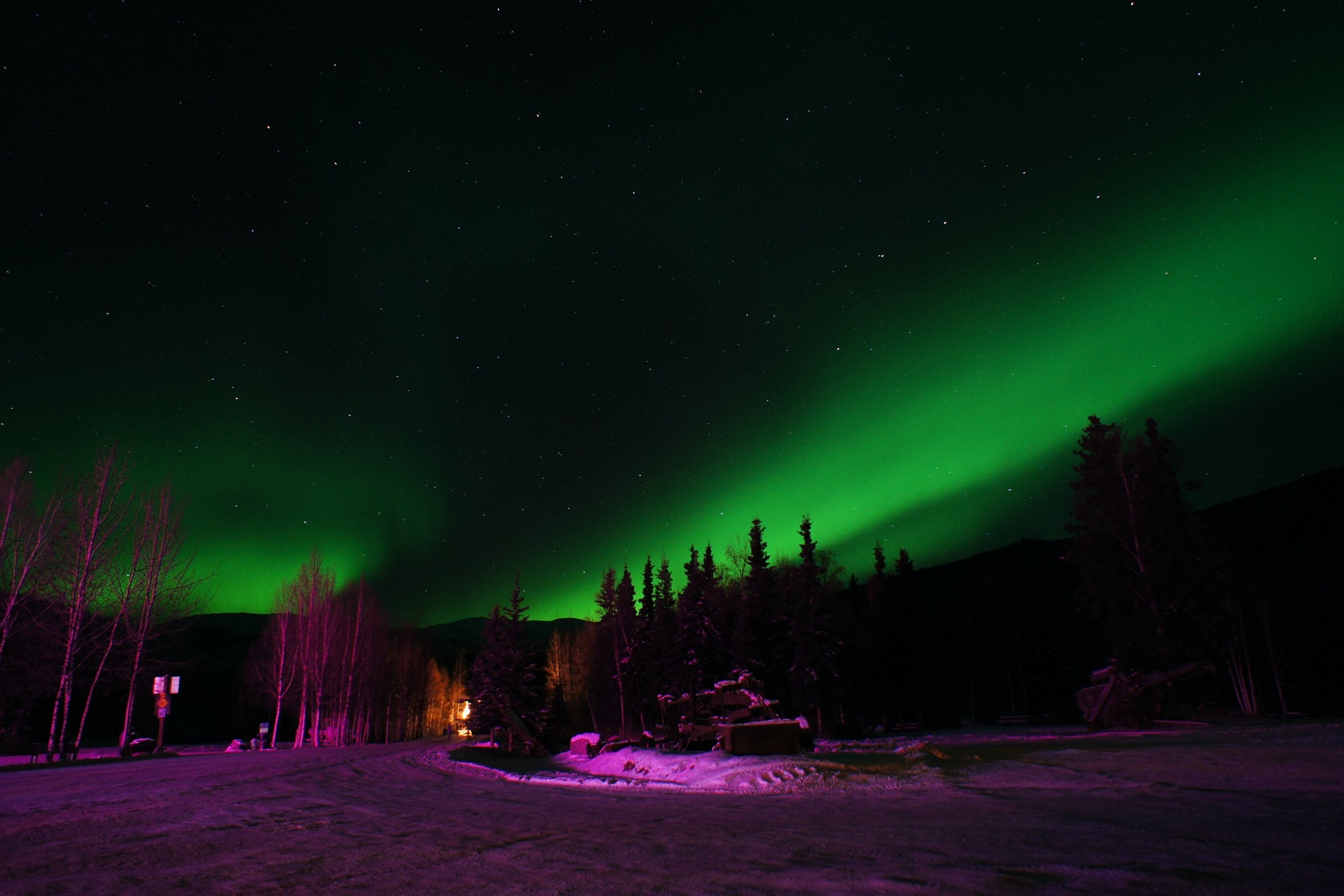 Soak under the Northern Lights at Chena Hot Springs Resort.