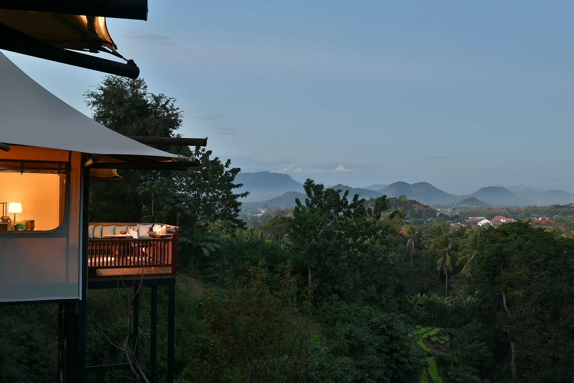 Located three miles outside of town, the new Rosewood Luang Prabang enjoys serenity and sweeping views.