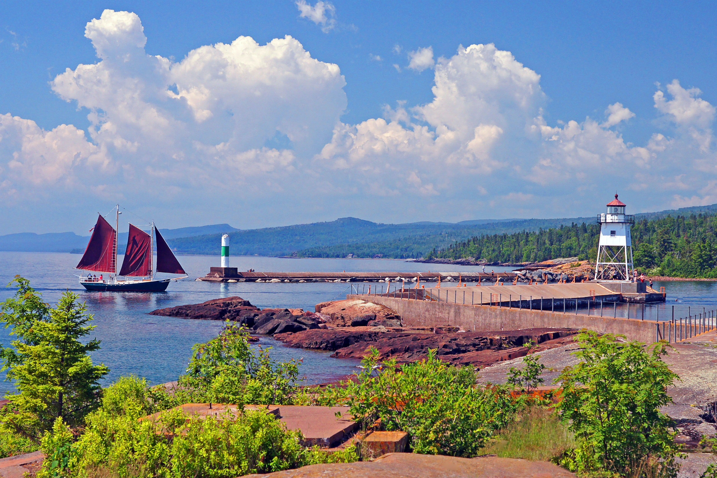 Grand Marais perches on Lake Superior's northern shore.