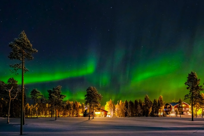 Finns don't wait for a sunny day to spend time in nature. And with the opportunity for northern lights viewing come wintertime, there's added incentive to bundle up.