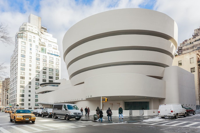 The Guggenheim's design is as famous as the collection of art it contains.