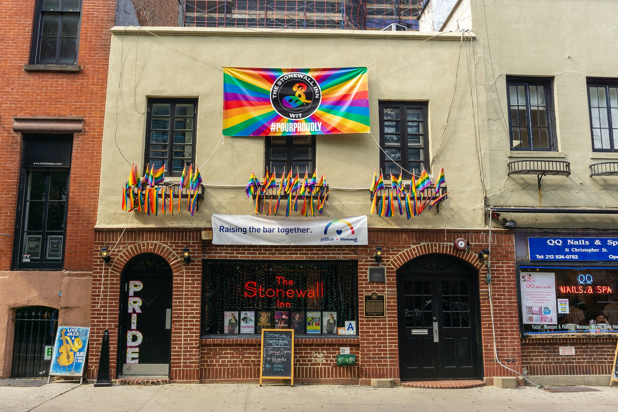 The Stonewall Inn in New York City's Greenwich Village is a milestone landmark in the quest for LGBTQ equal rights.