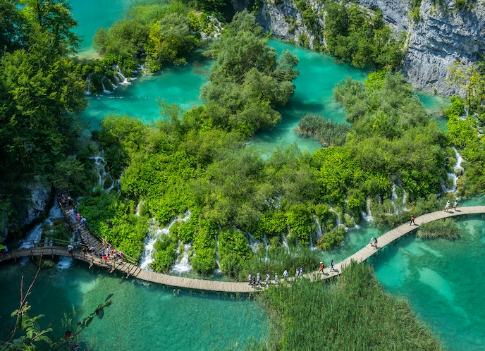 A private tour of Plitvice Lakes National Park is part of the scholarship.