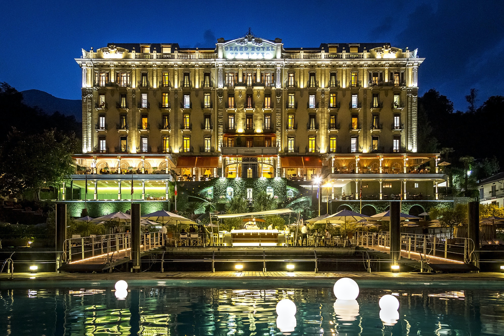 The gorgeous hotel was built in the belle epoque style.