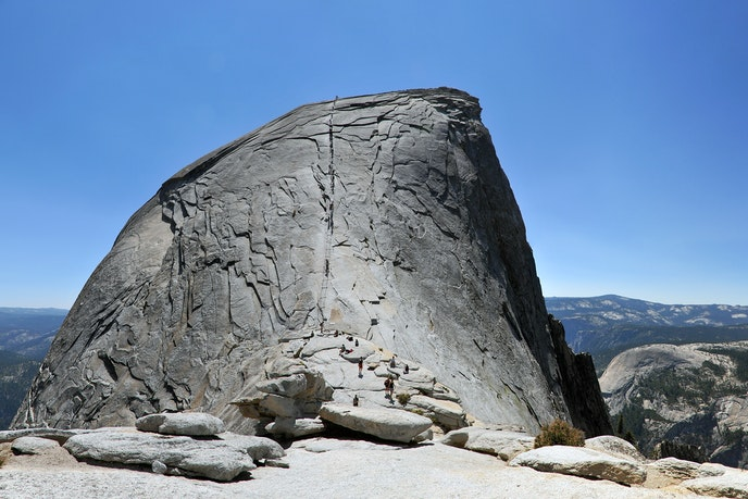 For four-and-a-half months of the year, a system of cables enables nonclimbers to reach the top of Half Dome.
