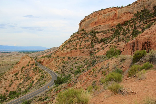 Rim Rock Drive inside the Colorado National Monument.
