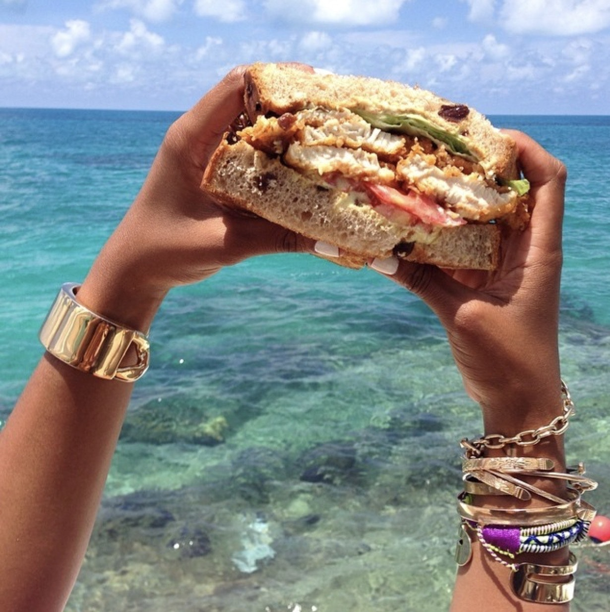 A fish sandwich from Seaside Grill. Credit: Shiona Turini