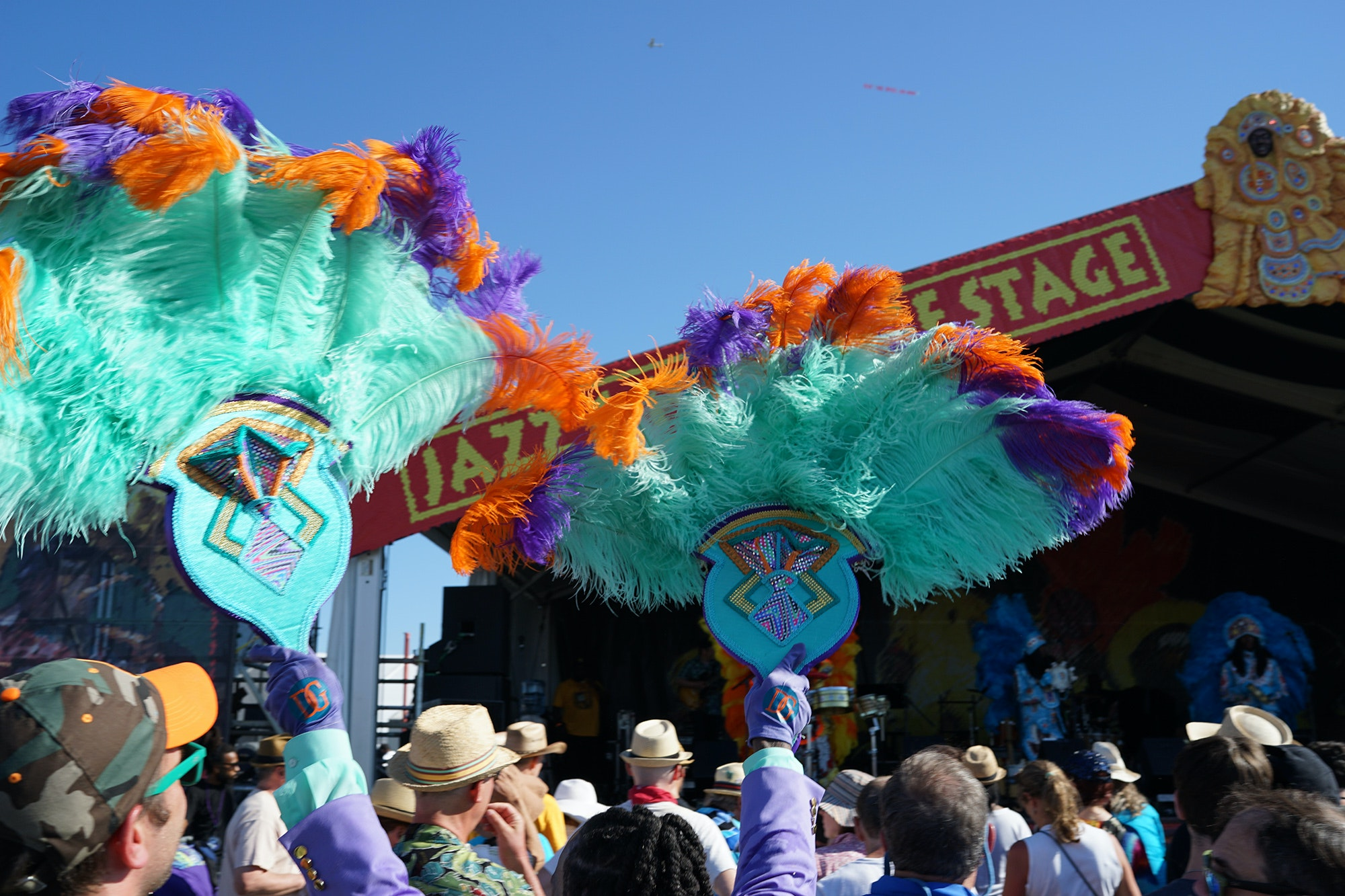 At Jazz Fest, you'll see all kinds of revelers and music fans.