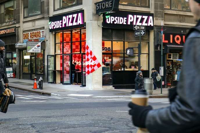 At Upside Pizza at Eighth Avenue and 39th Street, try a slice of the classic pepperoni.