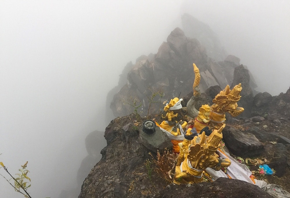 A shrine on the sumit of Mount Agung