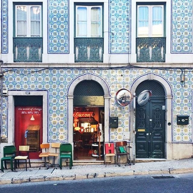 AFAR Collection marketing coordinator @gracemontgomery is in it for the tile. And by it, we mean Lisbon. #teamafar.