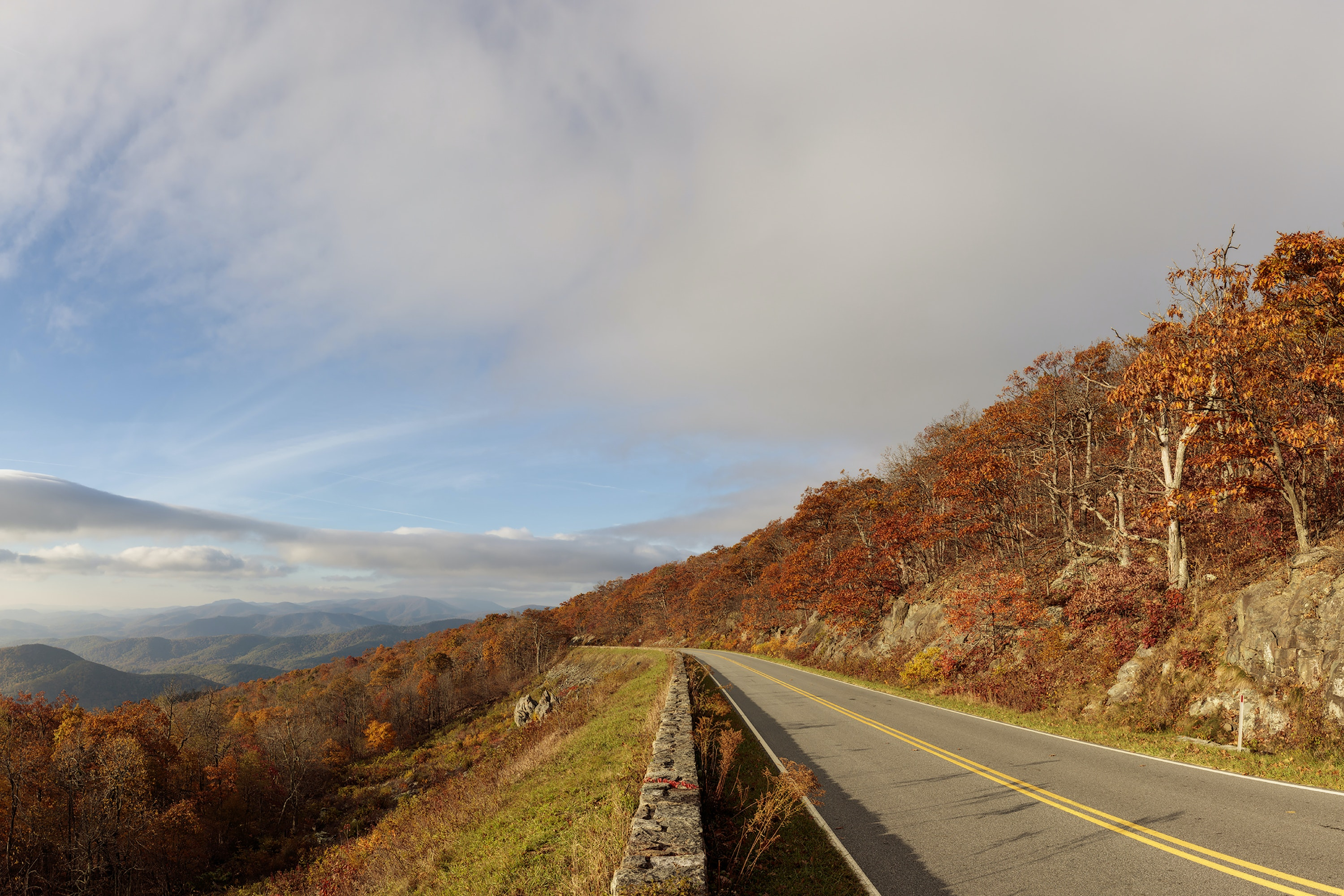 Take in the reds and oranges of Shenandoah National Park from one of its many scenic overlooks.