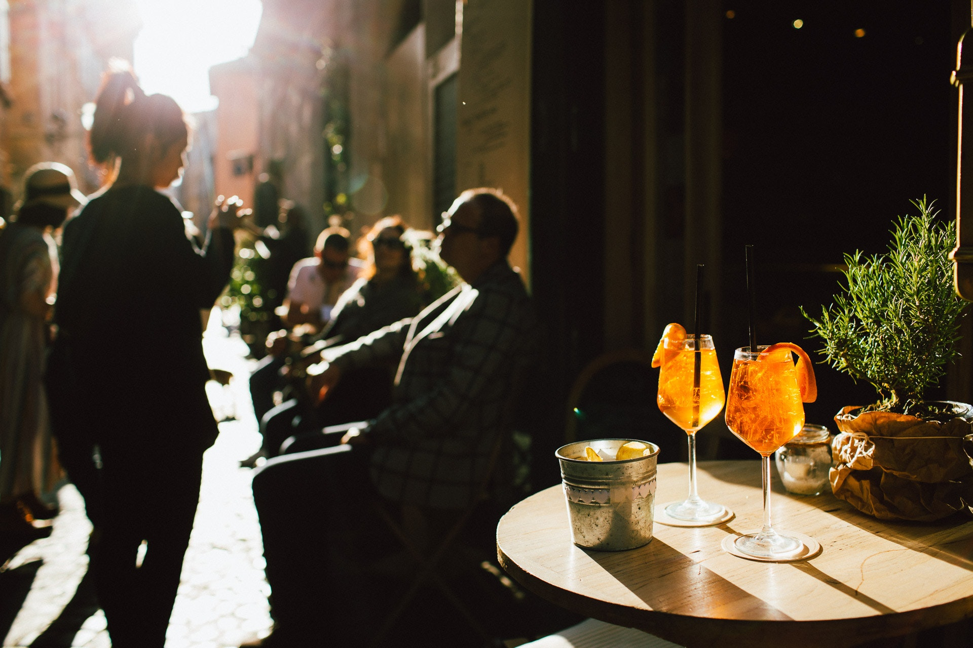 The aperol spritz: my daily indulgence in Rome. Photo by Tanveer Badal