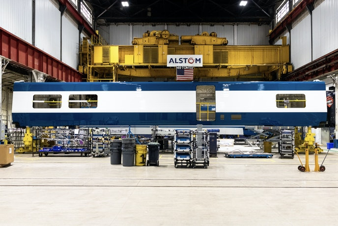 A sneak peek of Amtrak's new high-speed trains at Alstom's facility in Hornell, New York