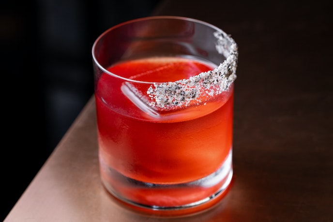 The Everything Is Everything Negroni at LA's Otium is made with everything bagel spice.