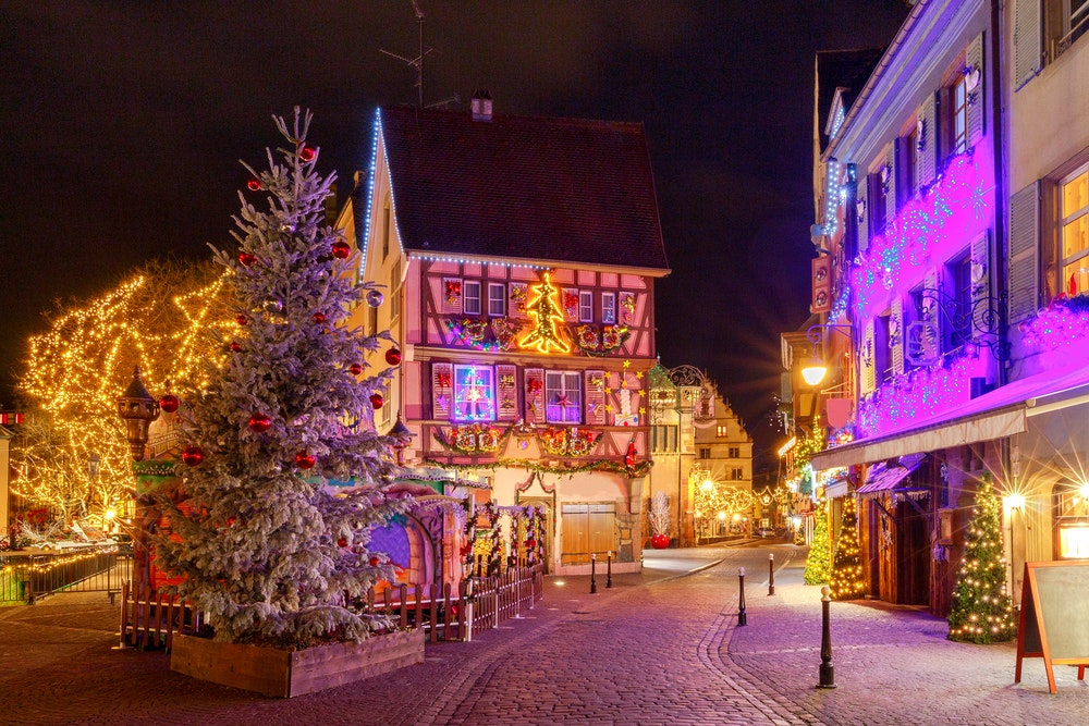 A snapshot taken on Christmas Eve in the French city of Colmar