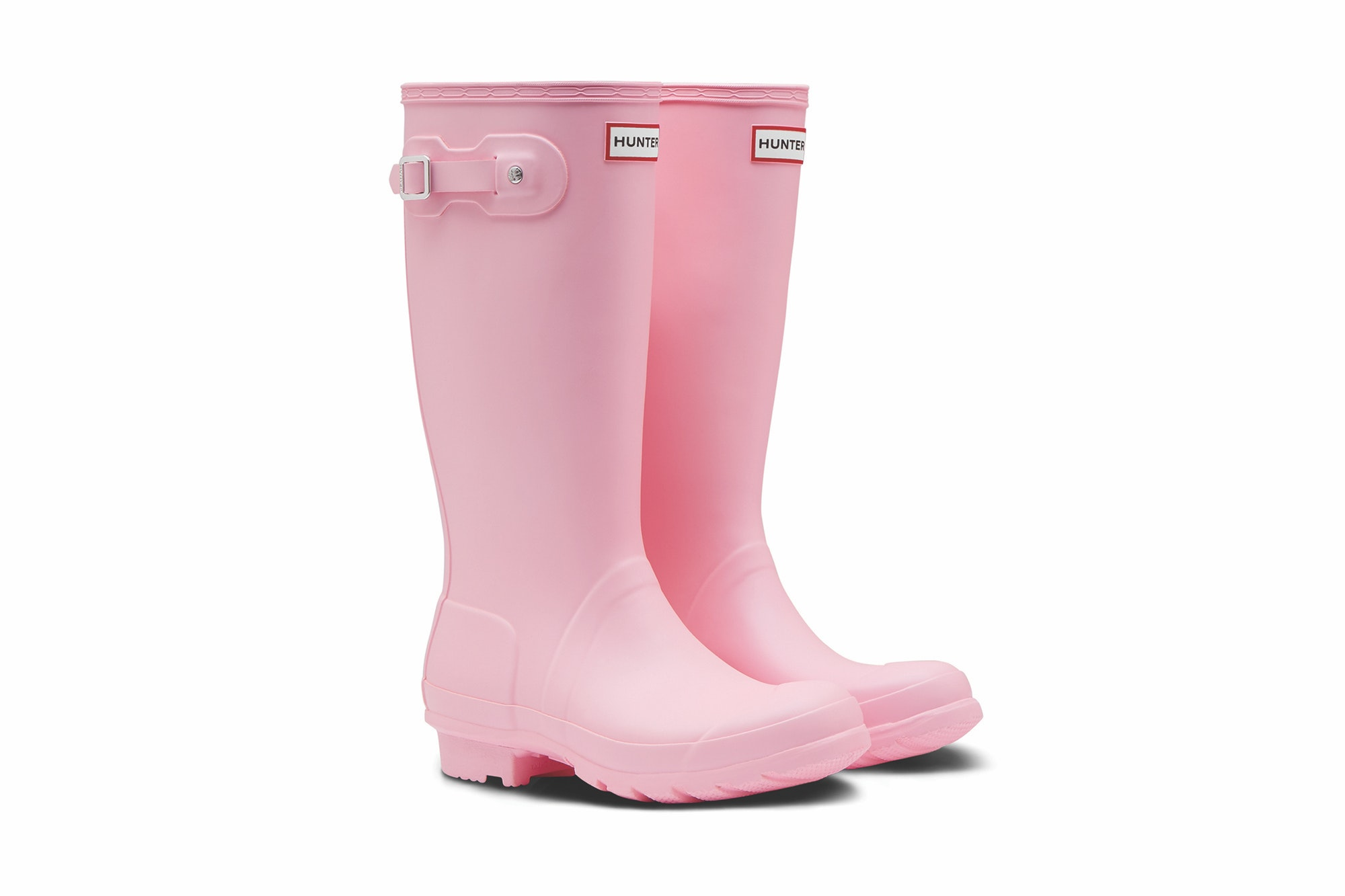 They're not merely pink, they're Langham Pink, aka Pantone color 706.