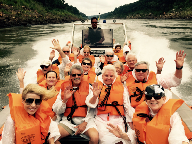 World cruisers on an exclusive Tully Luxury Travel excursion to Iguazu Falls