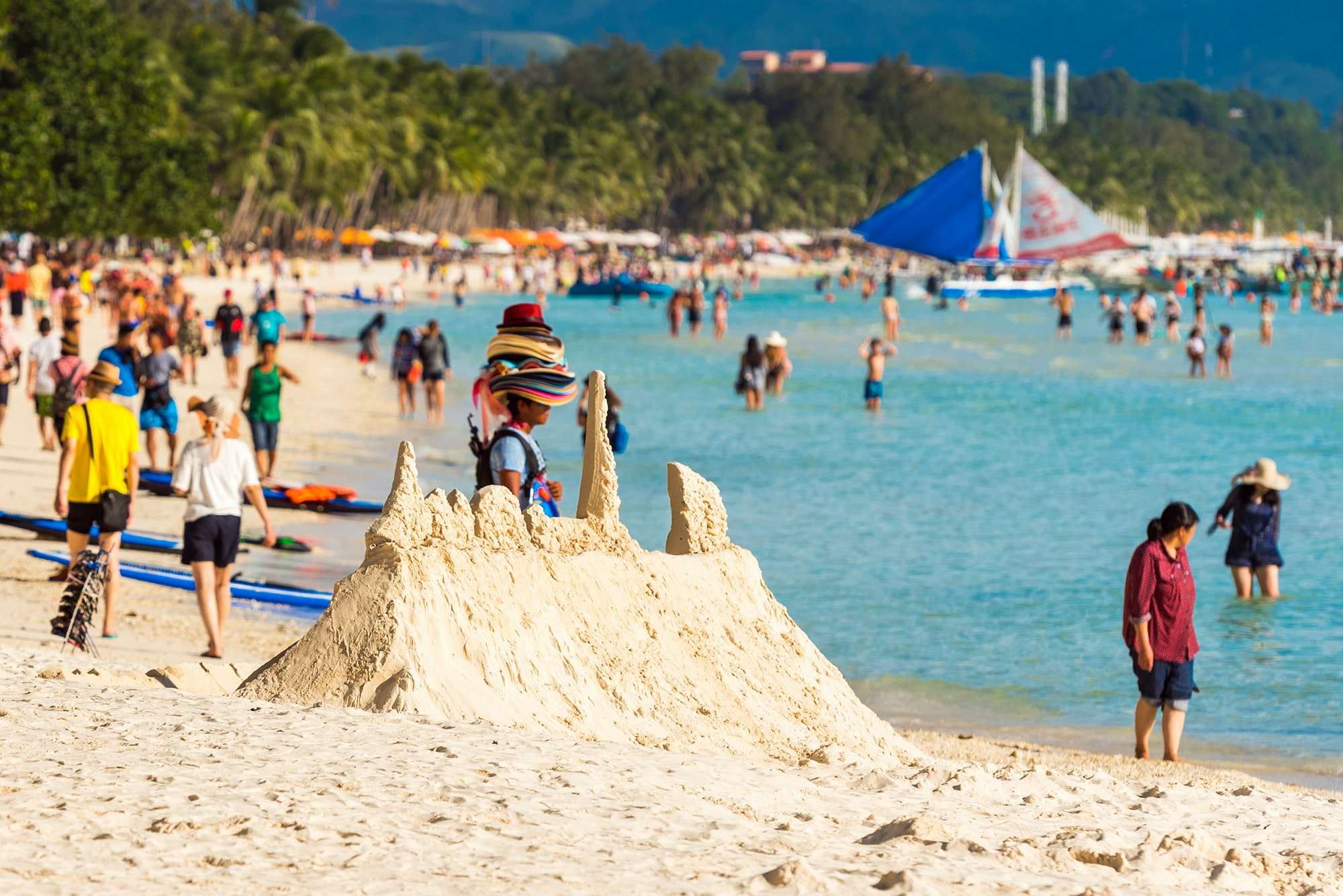 Boracay in February 2018, before the island closed for six months.