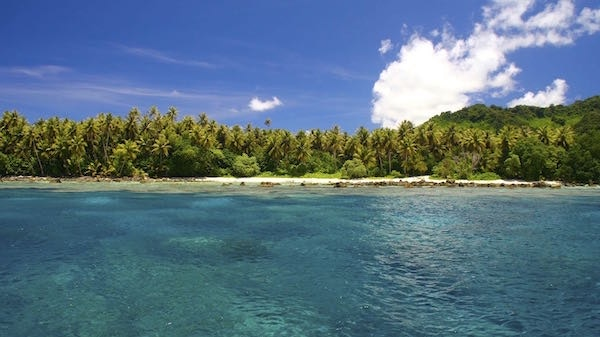 The island of Kosrae in Micronesia