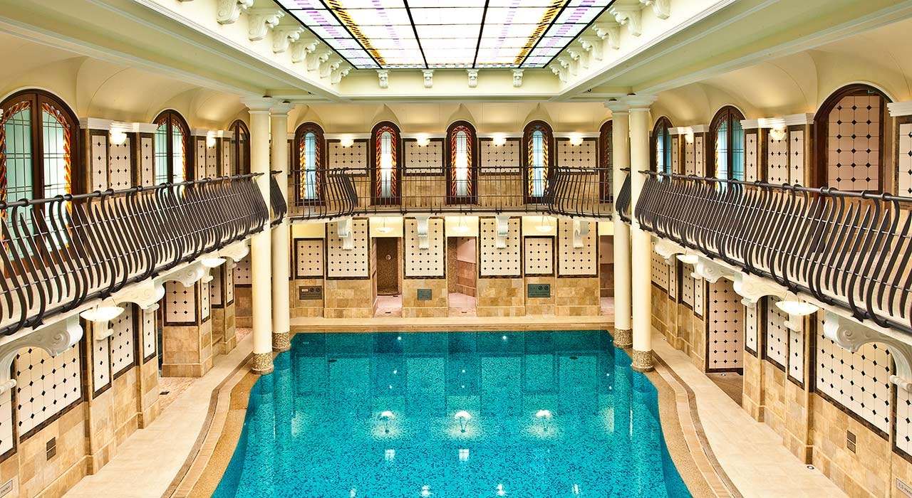 The Corinthia Hotel Budapest's glorious 50-foot-long swimming pool opened in 1886.