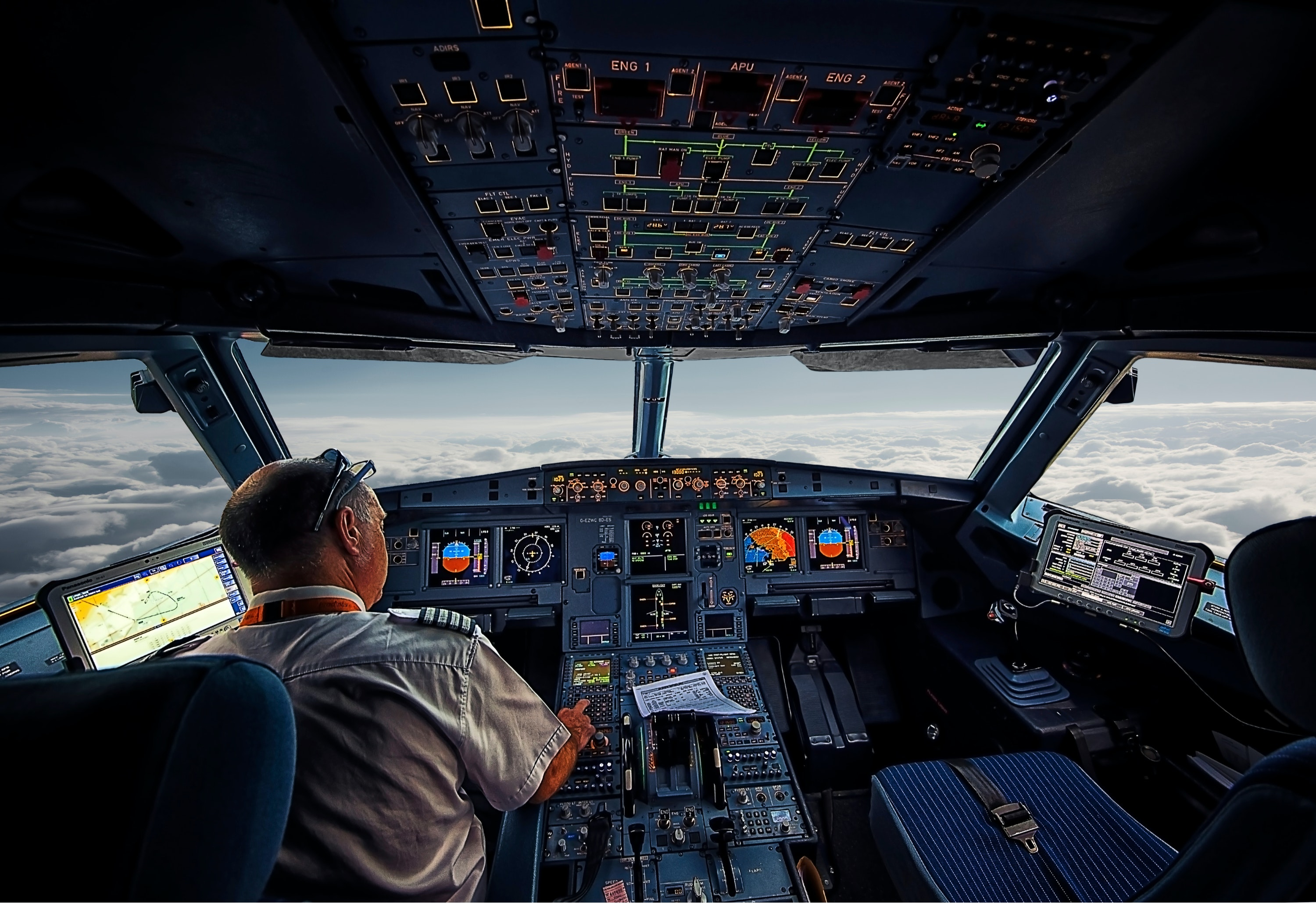 Pilots can eat the same meal on many flights.