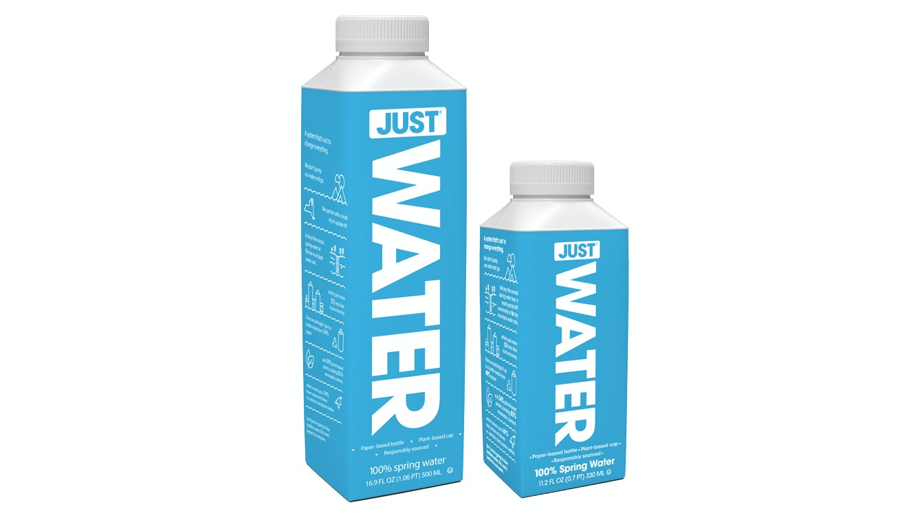 Just Water's bottles are refillable, recyclable, and edible. OK, they're not edible, but two out of three ain't bad.