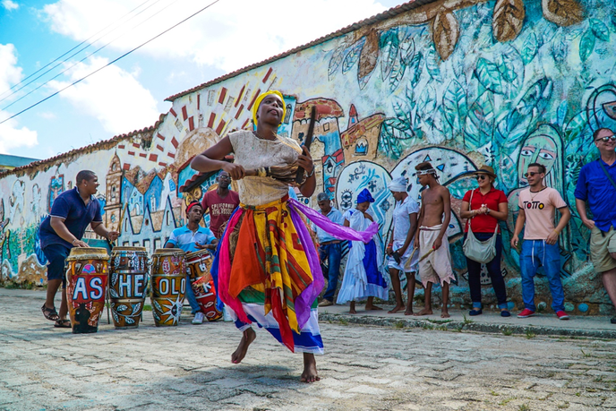 Music and dancing along Traditions Alleyway, Mantanzas, Cuba photo by Jacqueline Romano