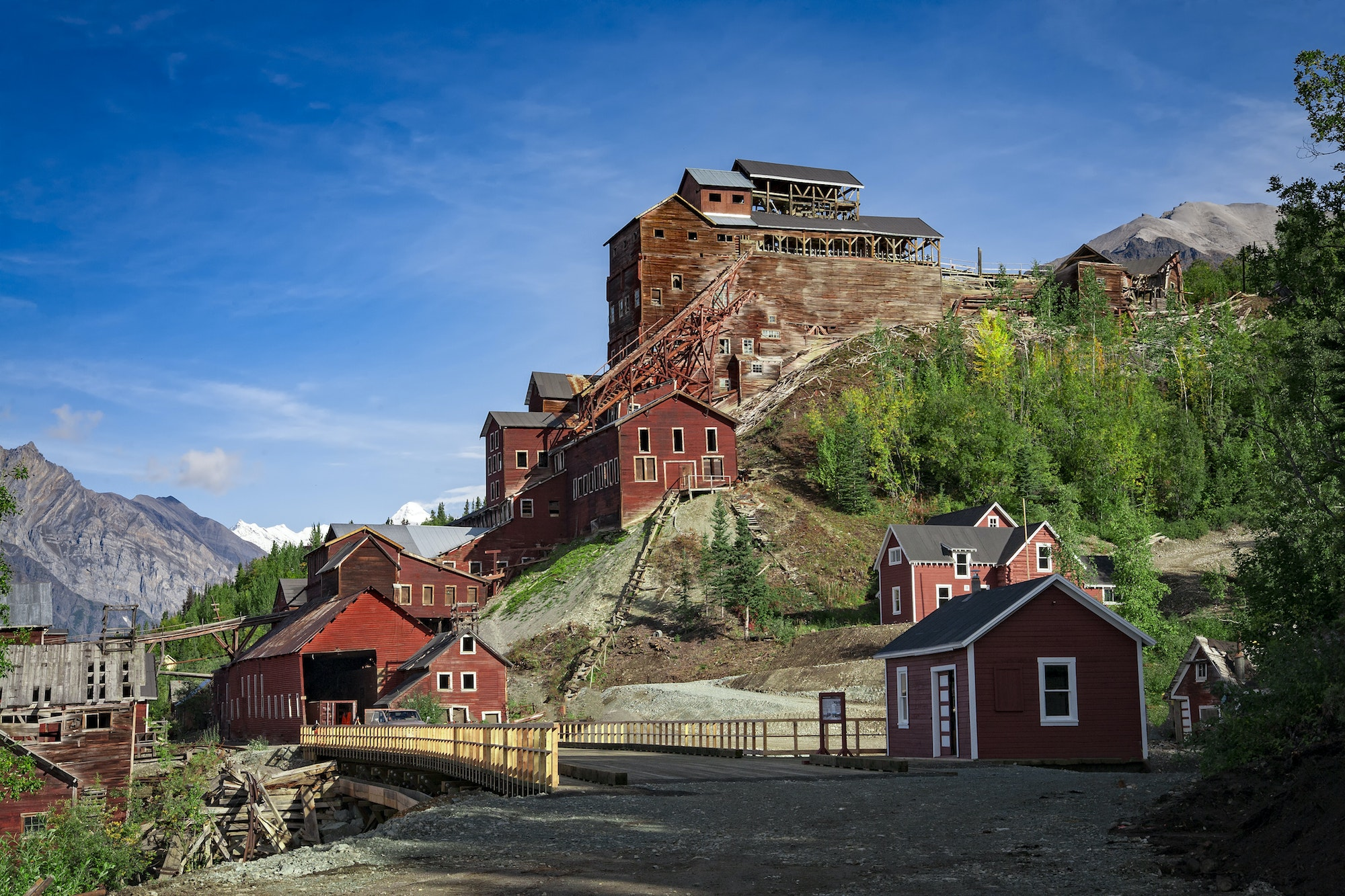 Kennecott is located in Alaska's Wrangell–St. Elias National Park, the largest U.S. national park.