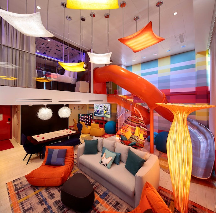 "The Ultimate Family Suite onboard the ""Symphony of the Seas."""