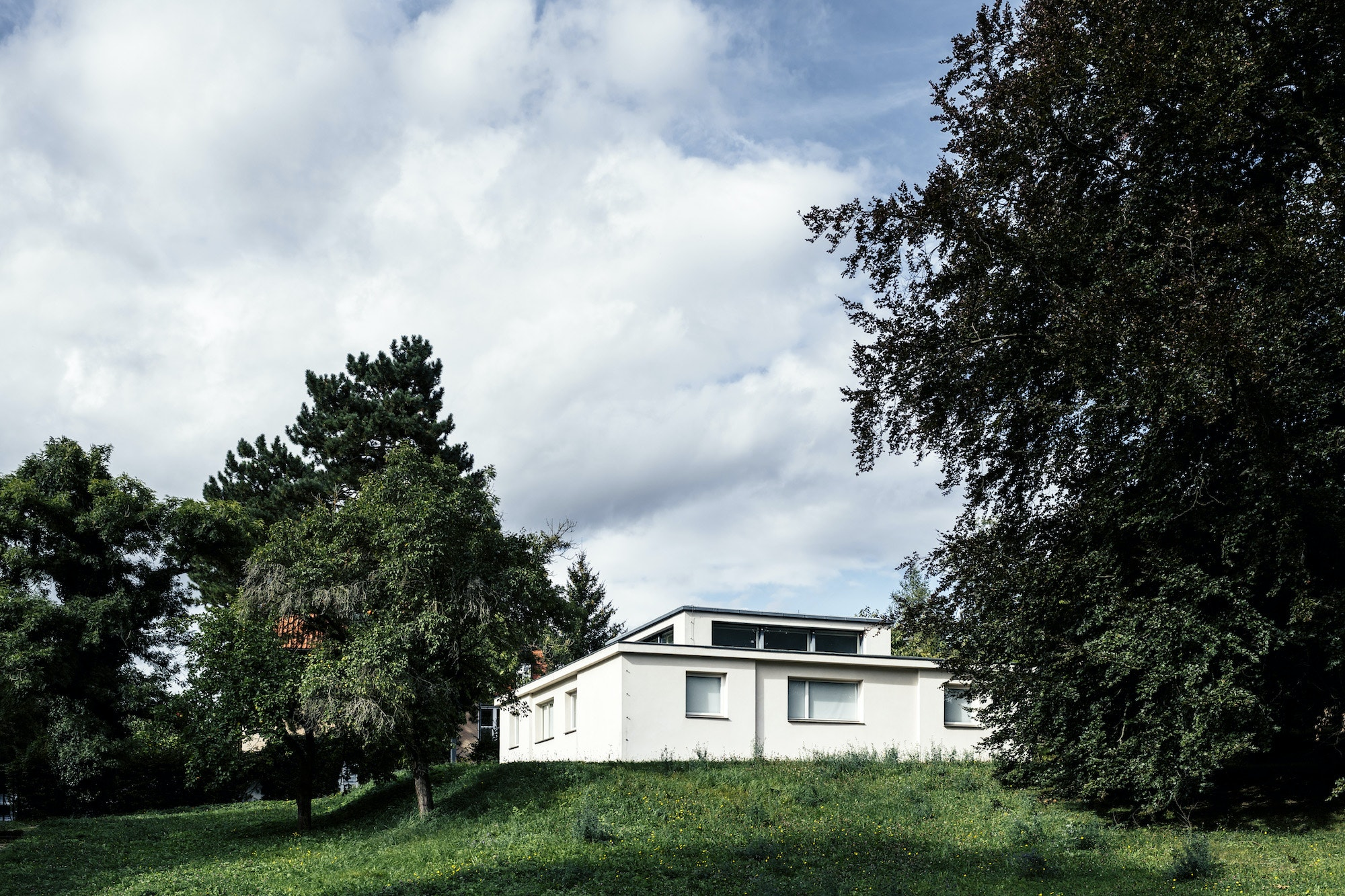 Weimar's Haus Am Horn, designed by architect Georg Muche in 1923, was the first building based on Bauhaus design principle.