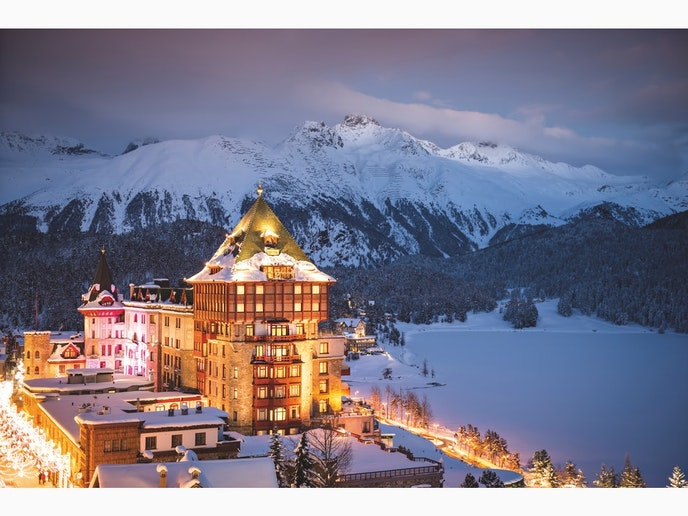 Badrutt's Palace Luxury Hotel opened in 1896 and is one of St. Moritz's swankiest stays.