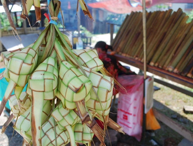 Ketupat, ready for stuffing.