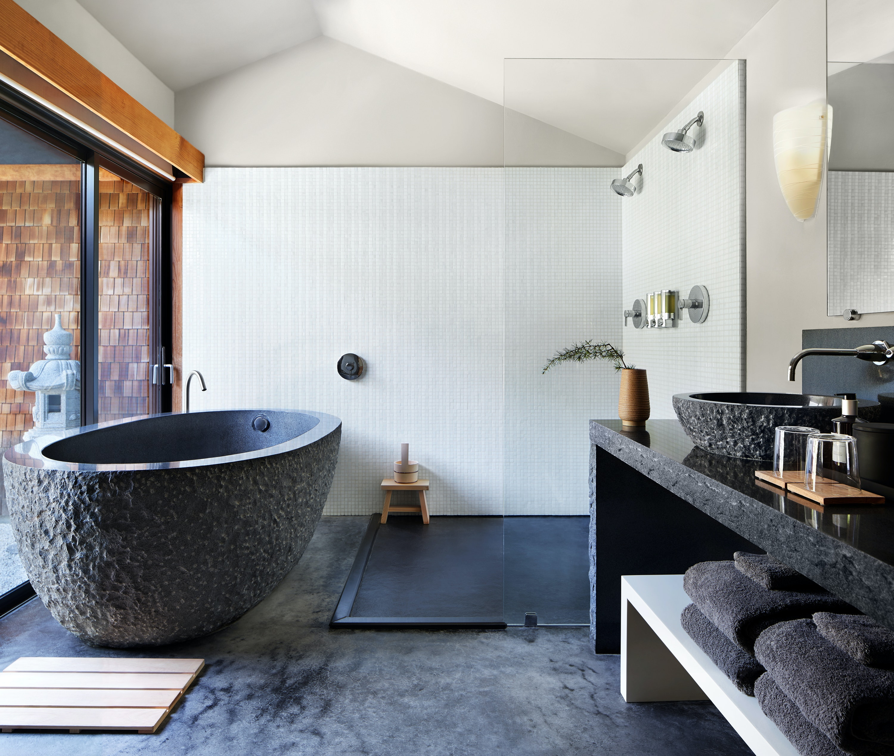 At Gaige House & Ryokan, guests can relax in a creekside suite.
