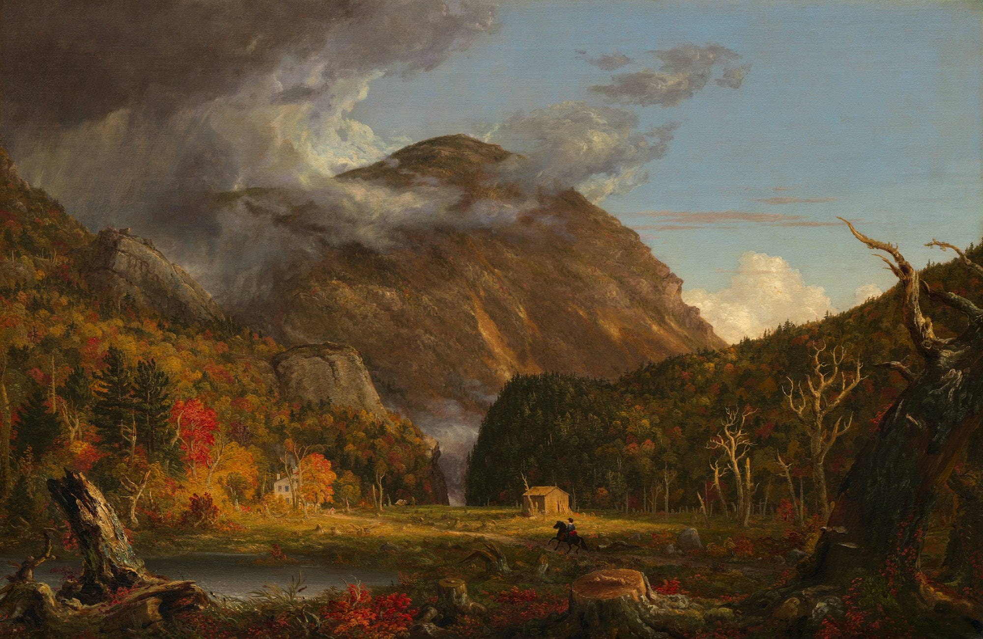 "Thomas Cole, ""A View of the Mountain Pass Called the Notch of the White Mountains (Crawford Notch),"" 1839, oil on canvas"