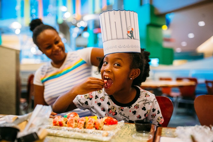 The twice-daily Candy Sushi class teaches kids how to roll gummies and crisped rice cereal into sushi-like delights.