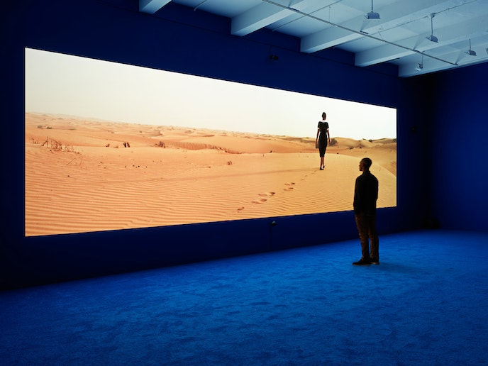 British filmmaker Isaac Julien, currently showing a film at LACMA, is known for his work depicting the relationship between race, sexuality, desire, and identity.