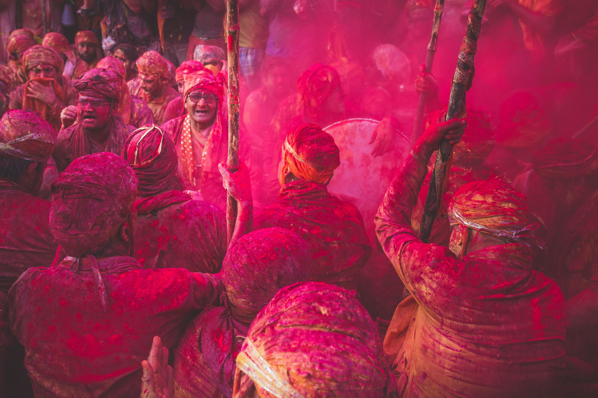 The town of Barsana, in northern India, explodes with color and tradition during Holi.