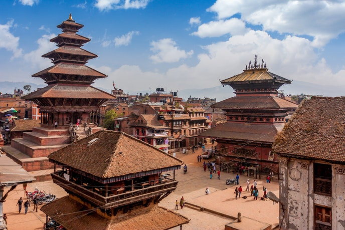 Located in the Kathmandu Valley, the city of Bhaktapur is a UNESCO World Heritage site.