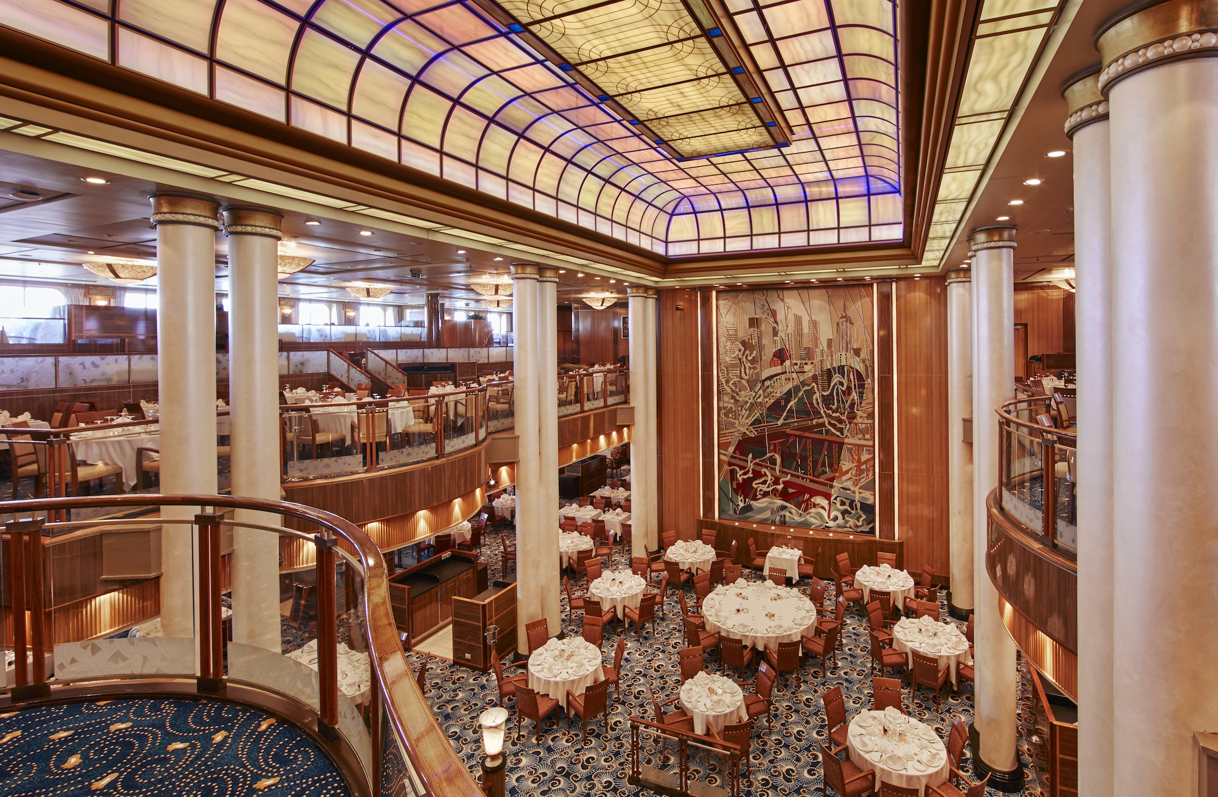 See the world in style onboard Cunard's Queen Mary 2.