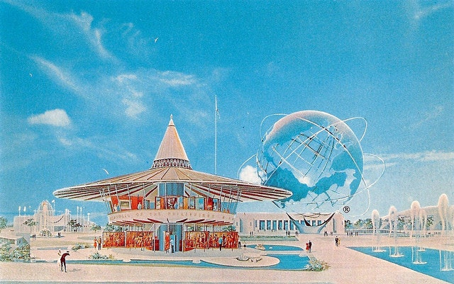 There's a little of that 'Meet the Jetsons' vibe about the Phillippines platform at the 1964 World's Fair